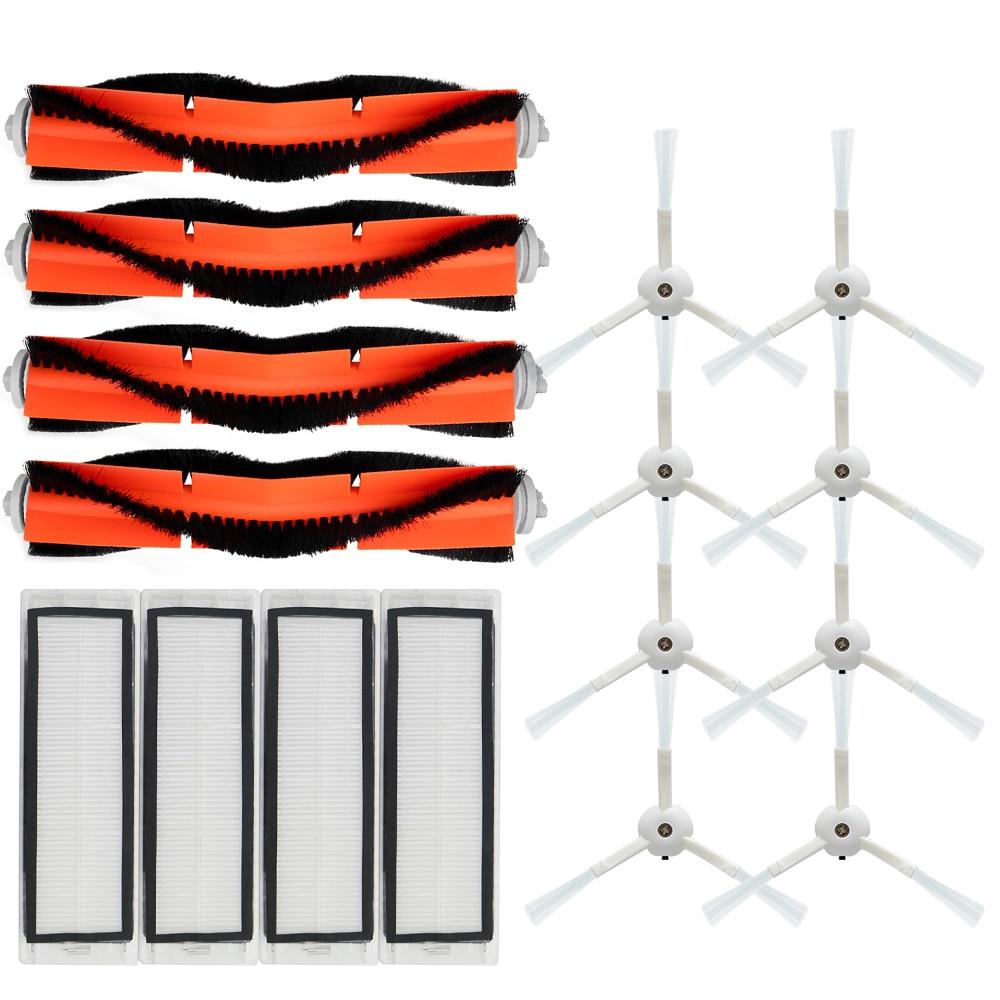 Аксессуары для робота-пылесоса Xiaomi MI 2 Roborock S50 S51, HEPA фильтр + боковая щетка + основная щетка аксессуары для haier аксессуары tt50ssc t710l tp53 tt53 t520s фильтр барабанная щетка аксессуары для пылесоса