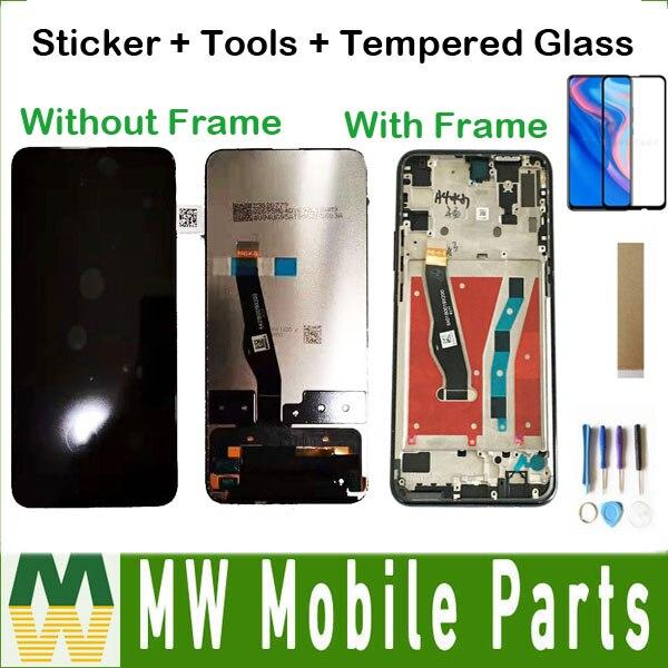 Com/sem moldura original para huawei y9 prime 2019 STK-L21 STK-L22 LTK-LX3 p inteligente z honra 9xlcd display + tela de toque com kit