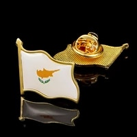 the republic of cyprus country nation map metal pinbadge gold plated flag lapel pins