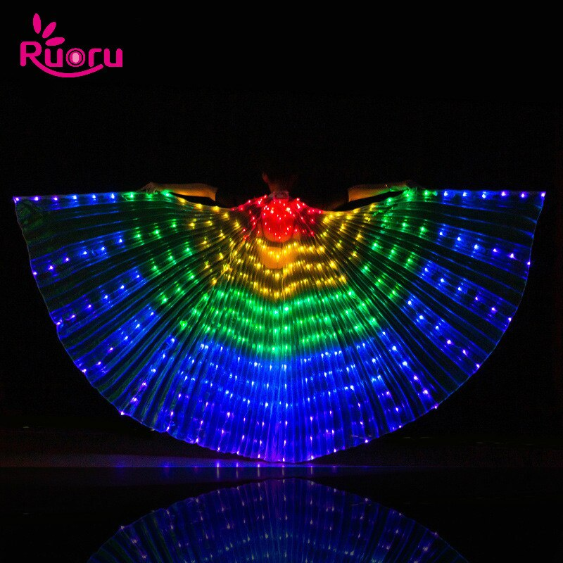AliExpress - Ruoru Alas Angle Led Wings Adult Led Glowing Costume Christmas Led Light Luminous Costumes Party Show Isis Wings Dancewear