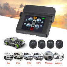 Tyre Pressure Auto Security Alarm Systems USB Solar Power Tyre Pressure Monitoring System Digital LC