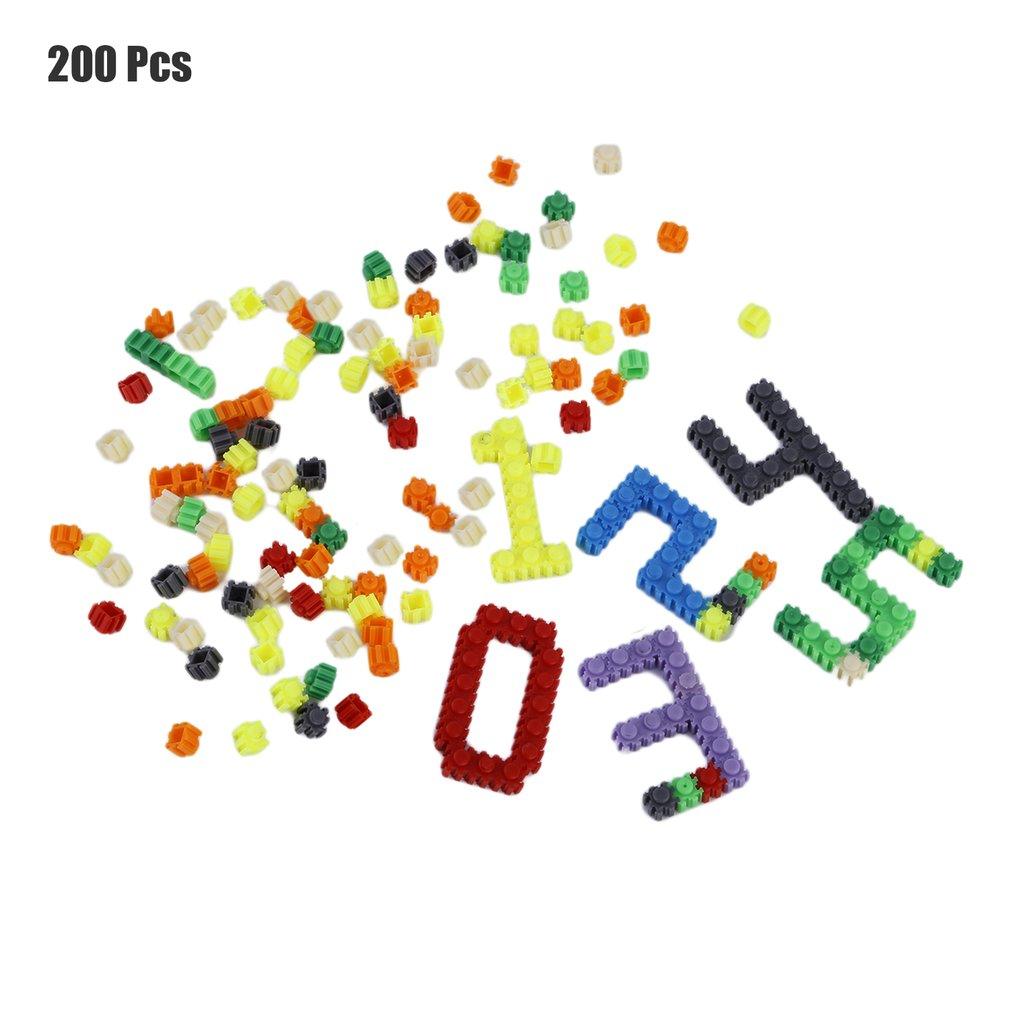 200 Pcs/Set Building Kits Block Dots Multicolor Plastic Kids Baby Educational DIY Building Blocks Toys For Children Gift