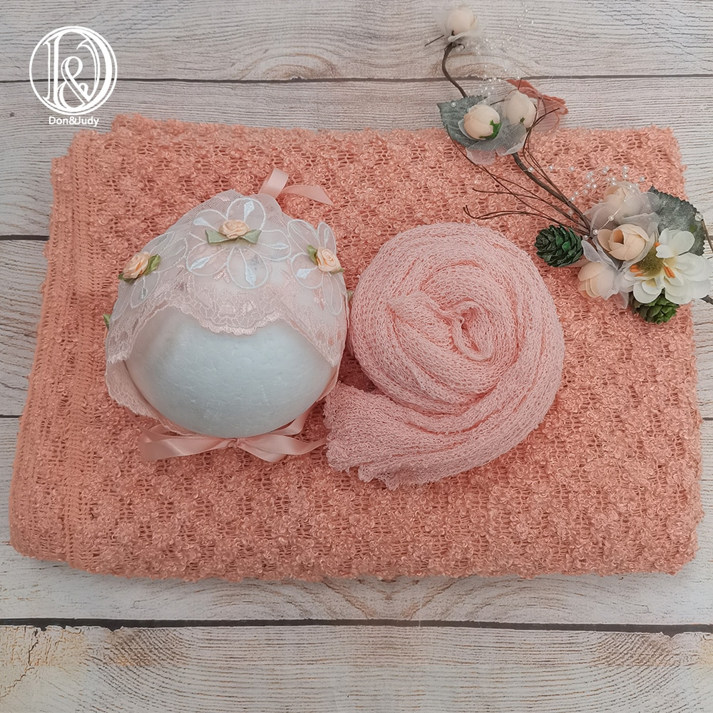 Don&Judy 3pcs/Set Newborn Photography Props Knit Stretch Wrap + Floral hat + Backdrops Accessories Baby Photo Shoot For Studio newborn photography props mohair knit wraps backdrops set stretchy blanket for baby photo shoot accessories fotografia acessorio
