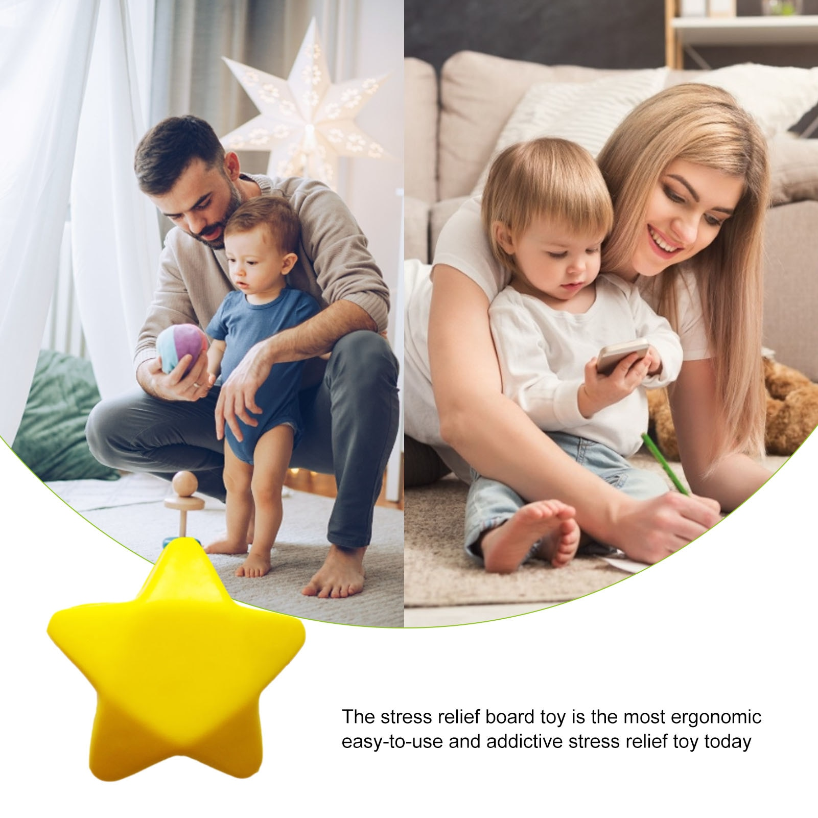 12pcs Cute Elastic Rubber Stress Relief Ball Star Shaped Exercise Stress Relief Squeeze Soft Foam Ball Mini Soft Foam Stress Toy enlarge