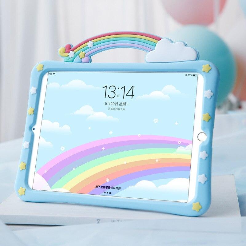 Céu azul estrela arco-íris tablet capa para apple ipad air3 caso ipad 7th geração à prova de choque capa para ipad 2020 caso