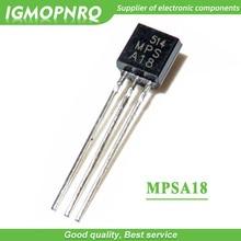 100 pièces MPSA18 A18 TO-92 Transistors bipolaires-BJT 200mA 45V NPN nouveau original
