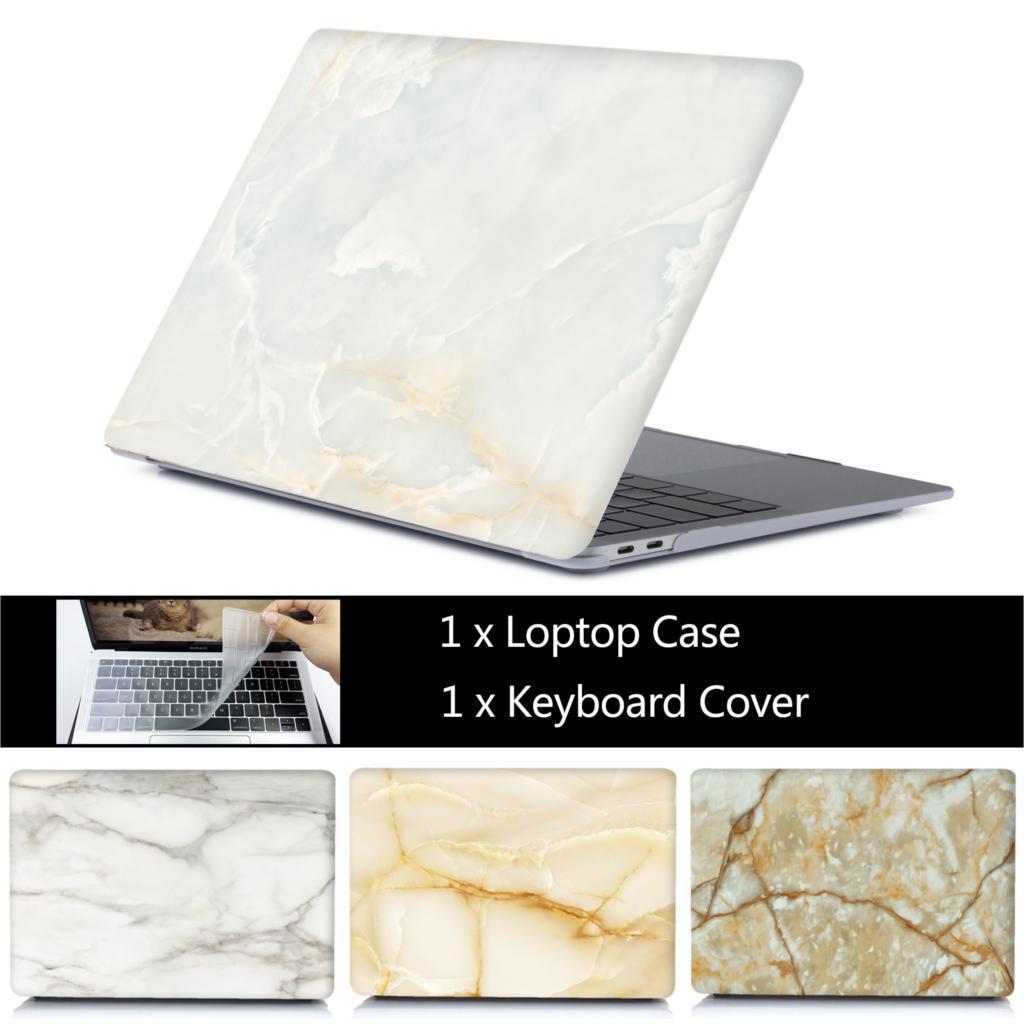 Funda de portátil de mármol para MacBook Air 13, A1932, Pro Air Retina 11, 12, 13, 15, para Mac Book 15,4, 13,3, barra táctil A2159 + funda para teclado