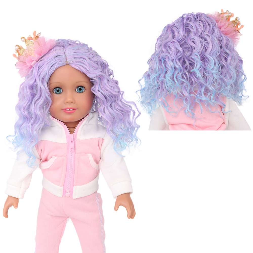 Doll Wigs for 18 inch American Dolls, Girls Gift Heat Resistant Long Curly Red Hair Replacement Wigs for 18 inch Dolls