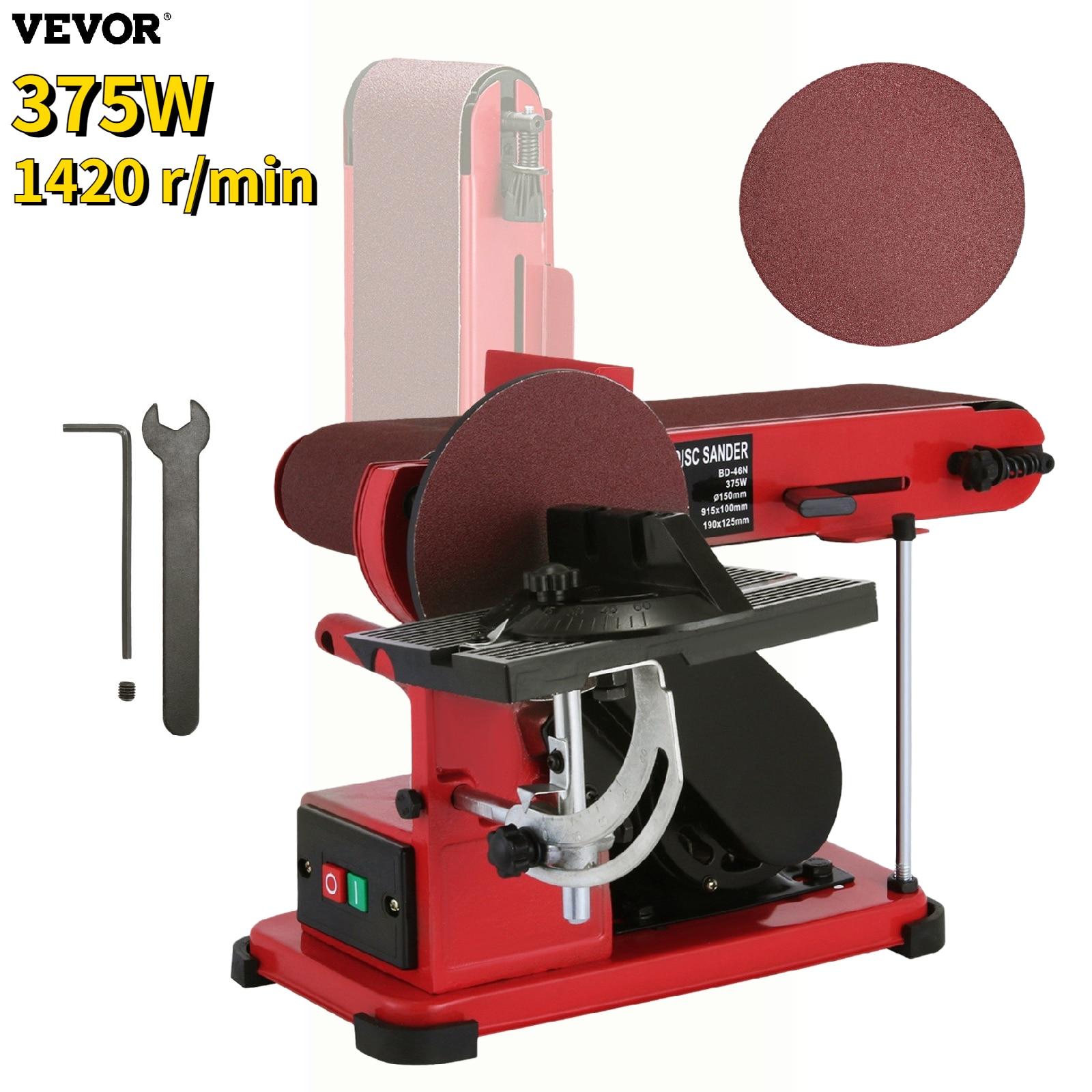 VEVOR 375 واط متعددة الوظائف جلخ الرملي آلة سطح المكتب حزام القرص ساندر اليدوية النجارة طحن تلميع أدوات كهربائية