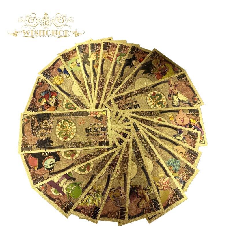 21 Stks/set 2020 Nieuwe Japan Anime Bankbiljet Draak Bankbiljet Yen Bankbiljet Met Certificaten Geld Voor Collection