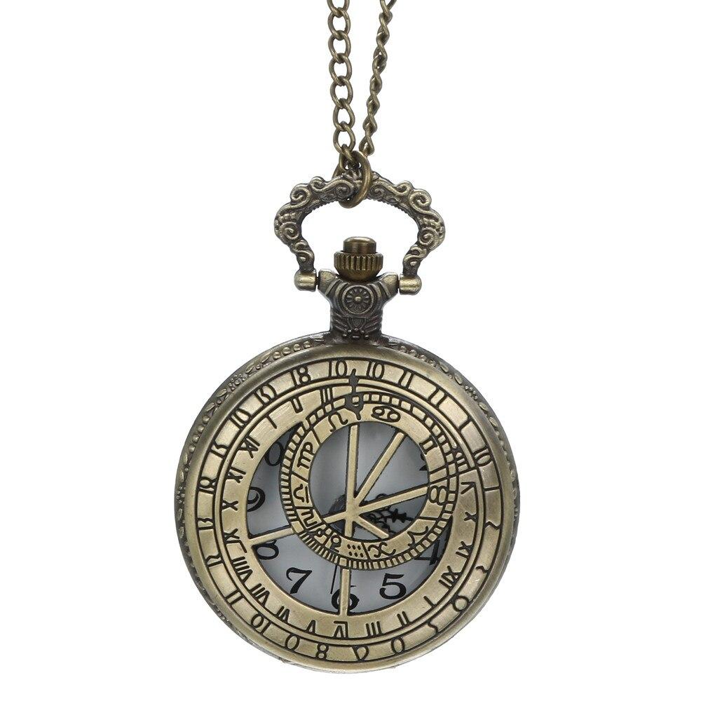 Cadena Vintage Retro El mejor collar de reloj de bolsillo para regalos de papá y papá reloj Digital para hombres resistente al agua #4O28