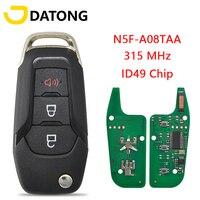Автомобильный ключ Datong HU101, ключ дистанционного управления для Ford F150-F550 Fusion Explorer N5F-A08TAA ID49, чип 315 МГц