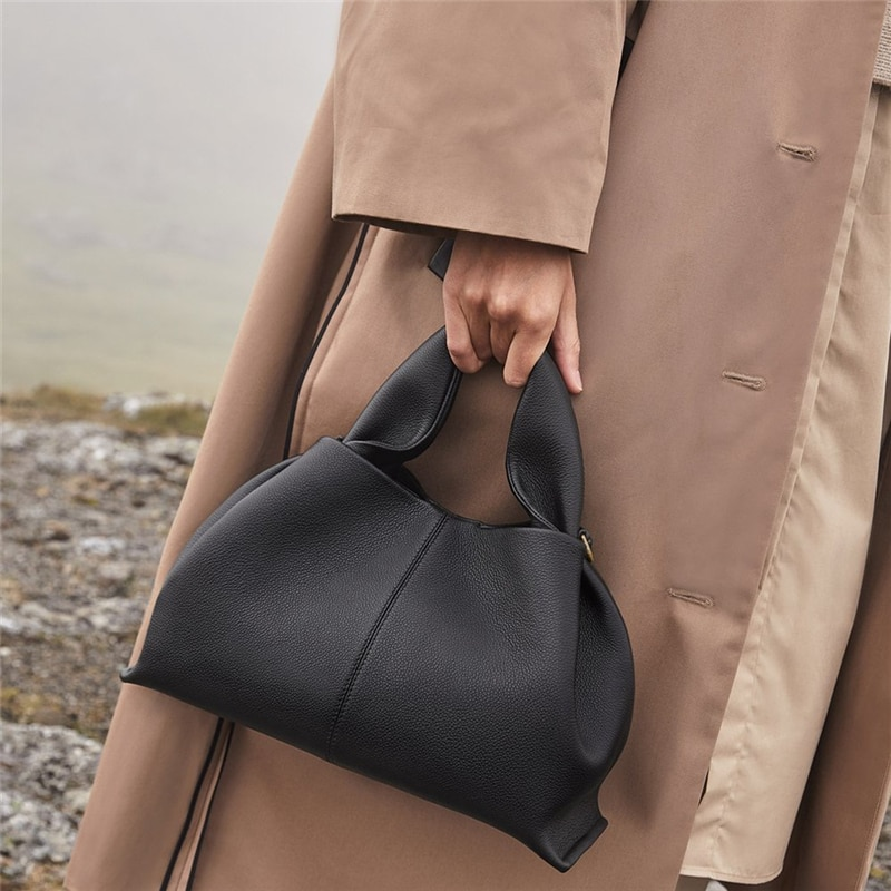 Fashion Ruched Hobos Women Handbag Designer Women Bag Luxury Soft Pu Leather Shoulder Crossbody Bags Lady Simply Tote Purse 2021