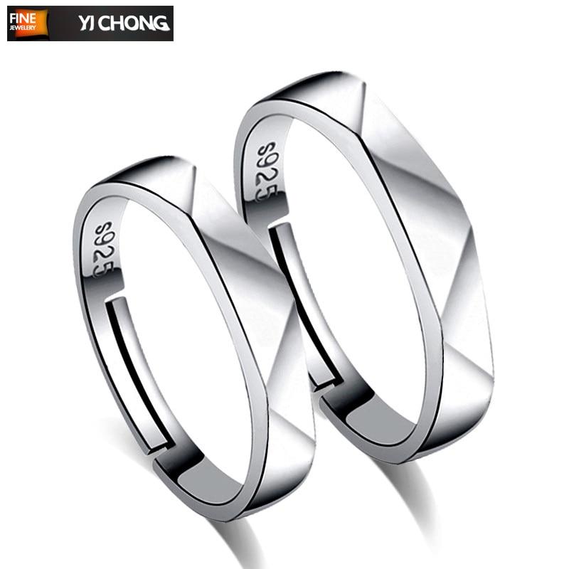 Anillos De plata conjunto De pareja De anillos Para los hombres y...