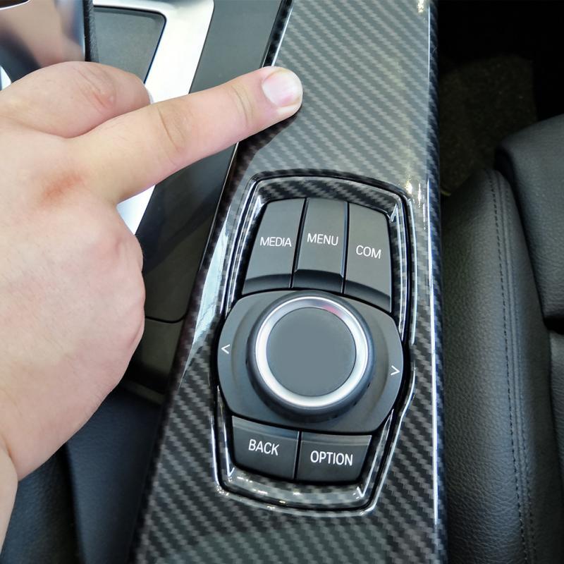 De fibra de carbono ABS de Color Interior Multimedia Panel recorte cubierta para BMW Serie 3 F30 F34 serie 4 F33 F36 2014, 2015, 206, 2017, 2018