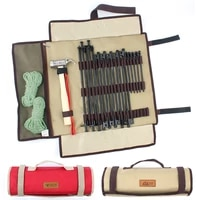 outdoor camping equipment stake storage bags tent accessories 1680d hammer wind rope tent pegs nail storage bag for camping tent