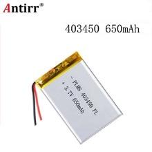 383450 3.7V 680mAH 403450 PLIB polymère lithium ion/Li-ion batterie pour GPS mp3 mp4 mp5 dvd