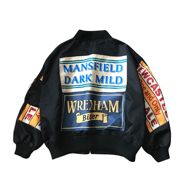 Frühling Jacke Frauen Windjacke Mantel Patch Designs Harajuku Lose Bomber Streetwear Casual Grundlegende Mantel Übermaß Kurze Jacke