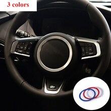 Volant de direction en aluminium pour Jaguar XE XFL X761   Pour voiture, décoration de anneau garniture 3D, autocollants autocollants accessoires