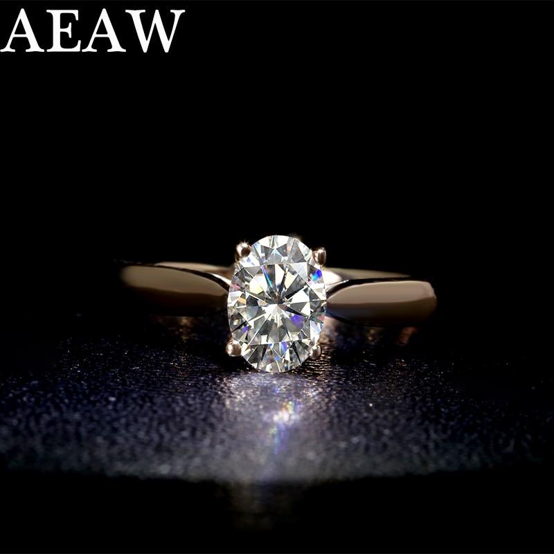 S925 فضة خاتم قيراط 1ct GH اللون مجوهرات خاتم ماسي مويسانيتي الدائري