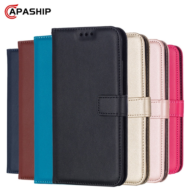 Leather Flip Wallet Case For Samsung Galaxy J4 J6 Plus J8 J2 Pro 2018 J3 J5 J7 Core Prime 2015 2016