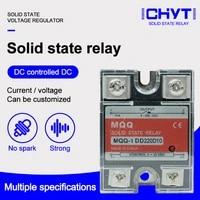 mqq 10dd 25dd 40dd 60dd 80dd 100dd 120dd dc control dc ssr white shell single phase solid state relay with plastic cover