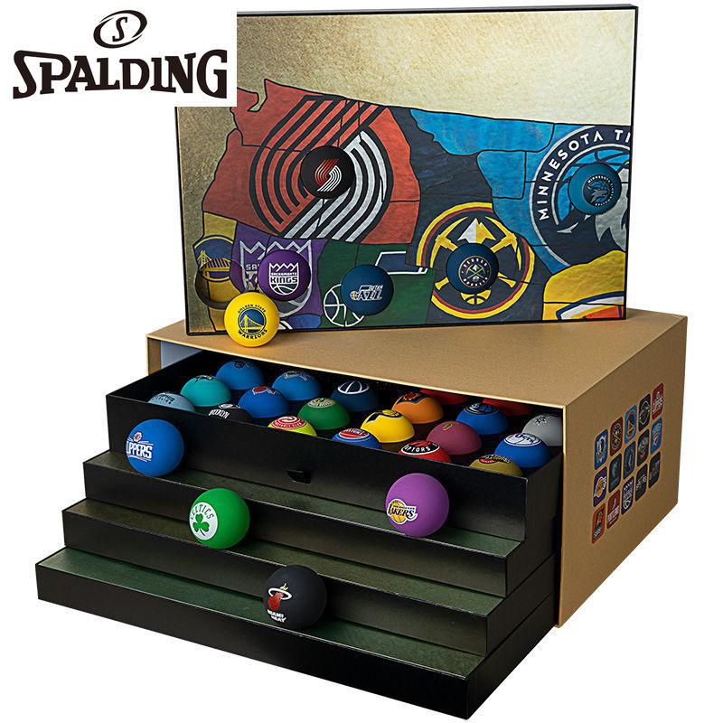SPALDING Team Logo 30 Mini Balls Gift Box Commemorative Bouncy Ball
