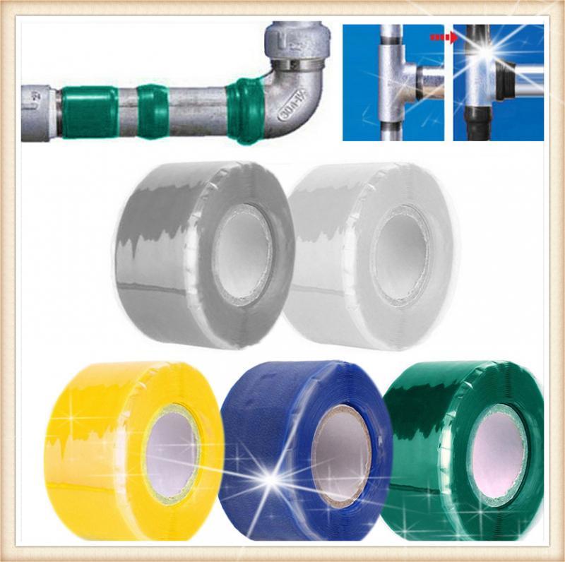 Super silicona impermeable rendimiento reparación cinta Unión rescate manguera de cable de auto fusión cinta de película transparente negra cinta adhesiva caliente