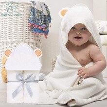 Premium Organic Bamboo Baby Towel Baby Washcloth Set Baby Bath Towel  Extra Soft And Thick Newborn Hooded