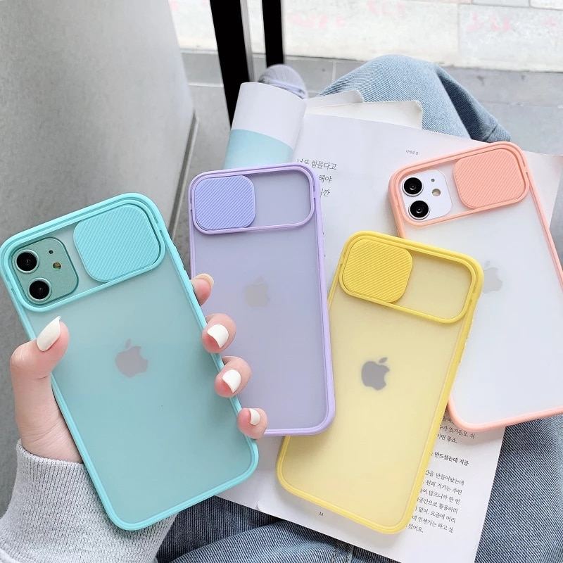 Wholesale 50pcs/lot Camera Lens Protection Phone Case For Iphone 11 Pro Max 8 7 6 6s Plus Xr X Xs 12 Color Candy Soft Back Cover