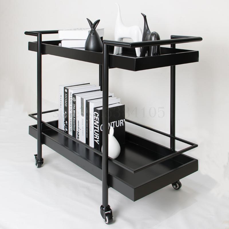 European mobile dining cart stroller racks home kitchen cart tea wine drink car fruit car