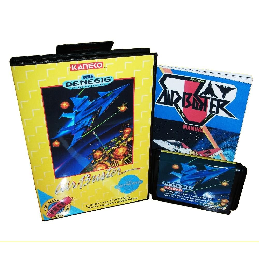 Controlador de aire para consola de cartucho de videojuegos Sega Genesis/megadive de 16 bits con caja de venta al por menor y Manual de instrucciones