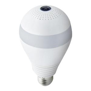 LED Light Camera 1080P Wireless Panoramic Wifi Camera Fisheye Bulb Lamp 360 ° Home Security Monitor