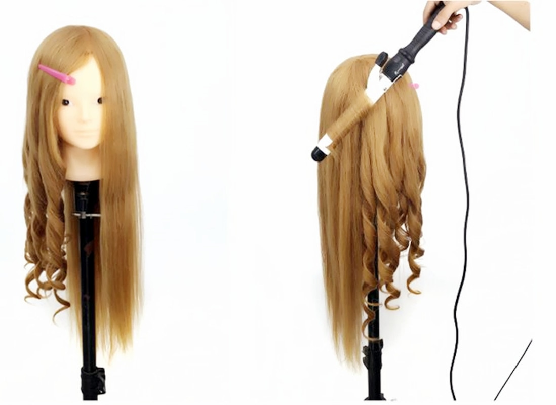 55-60CM Without makeup mannequin heads with 85% human hair for braiding manniquin dolls dummy head for hairdresser practice hair