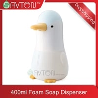 SAVTON Penguin-distributeur automatique de savon moussant  Machine a laver les mains a Induction  intelligente  pour cuisine  salle de bains  pour enfants