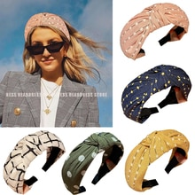 Fasce per capelli da donna con stampa a fascia incrociata fasce per capelli eleganti cerchi per capelli per ragazze fasce per donna copricapo accessori per capelli regali