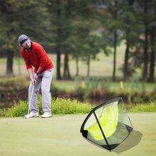 Protable 골프 연습 그물 대상 절단 막대 라운드 접이식 플랫 나일론 접는 M68D