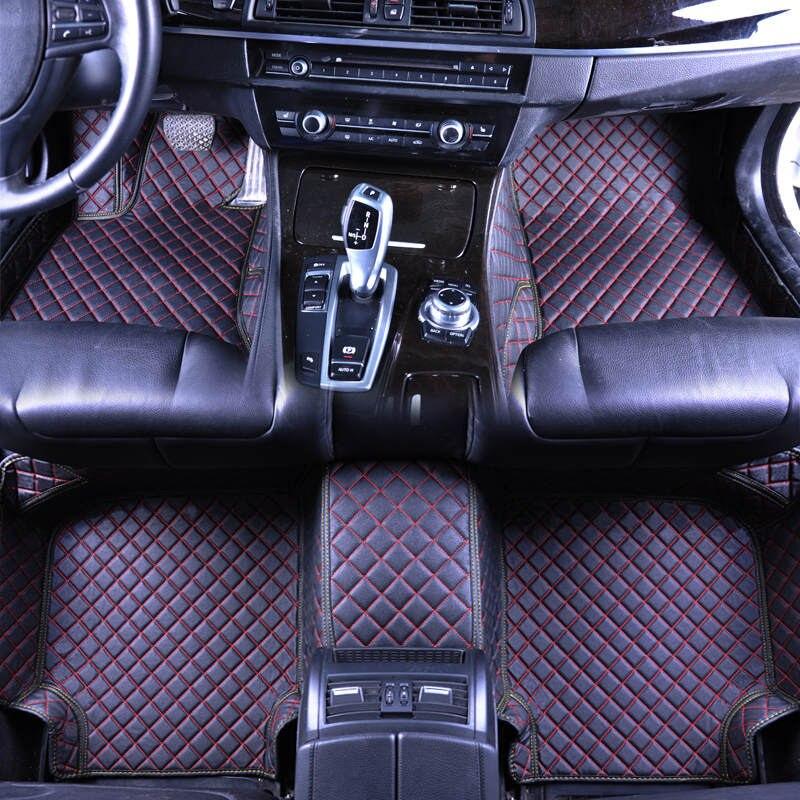 Alfombrillas de coche 3D personalizadas para Geely Atlas Emgrand EC7 Emgrand EC8 LC(Panda) X7 GX7 EX7 cuero ecológico para alfombrillas de coche
