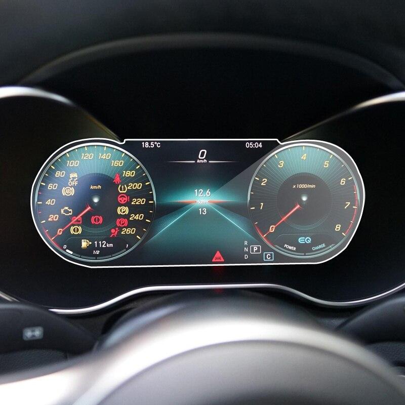 Película protectora de vidrio templado para Mercedes Benz Clase C W205 2019 2020 panel de instrumentos interiores automotrices pantalla LCD