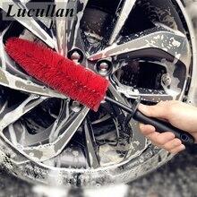 """Lucullan 17 """"щетки для автомобильного обода колеса спицы двигателя отсека двигателя гибкие мягкие инструменты для чистки волос с резиновой крышкой для детализаторов"""