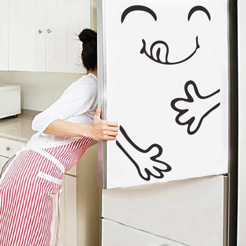 Fridge magnet Magnet fridge Cute Sticker Happy Delicious Face Kitchen Wall Stickers Art Smiley