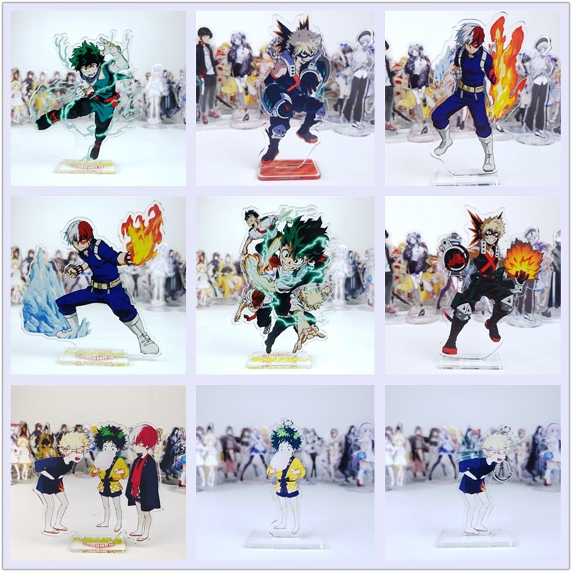 Anime mi héroe Academia figura cosplay acrílico juguete Izuku Bakugou Todoroki URARAKA Tsuyu Tokoyami todo podría Aizawa acrílico muñeca