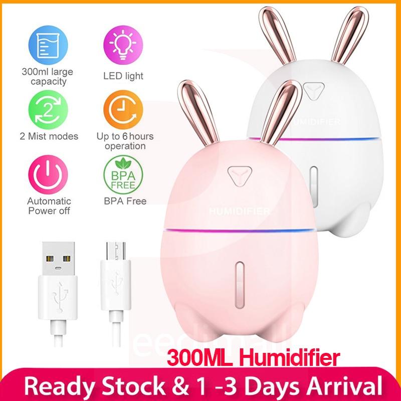Ciervo conejo Nano humidificador atomizado luz nocturna USB carga aromaterapia difusor de aceite esencial niebla fabricante purificador de aire regalo