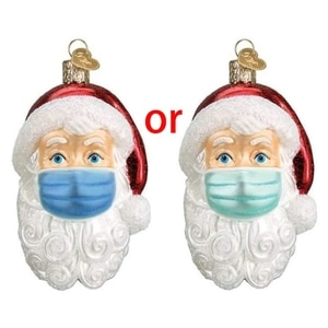 Santa Claus New Year Natural Resin Christmas Tree Ornaments Pendant Hanging Gifts Xmas Decor for Home Party Decorations