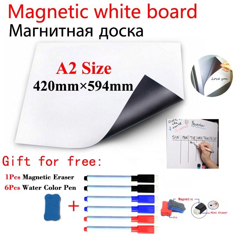 Доска на стену Магнитная A2, белая наклейка на холодильник, для детей, дома, школы, офиса