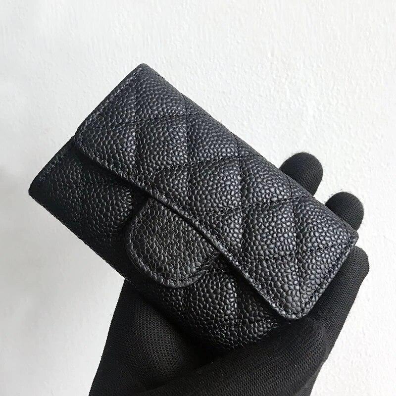 Luxury Classical Women Bag Brand Fashion Sheepskin Leather Business Card Holder Genuine Leather Credit Card Holder