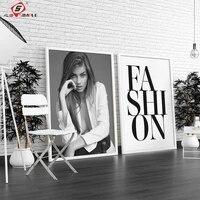 Affiches en toile moderne en noir et blanc  imprimes nordiques  peintures de femmes Sexy  photos dart murales pour la decoration de la maison du salon