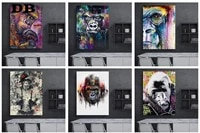 graffiti cute monkey canvas painting colorful printed poster and art wall decoration prints for home living room decor no fram