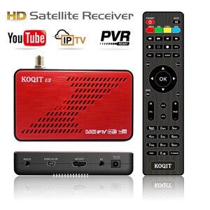Спутниковый ресивер Koqit U2 DVB S2, приемник стандарта CS, бесплатный шифратор, декодер Biss vu iptv, спутниковая тв-приставка, wi-fi/RJ45 спутниковый искате...