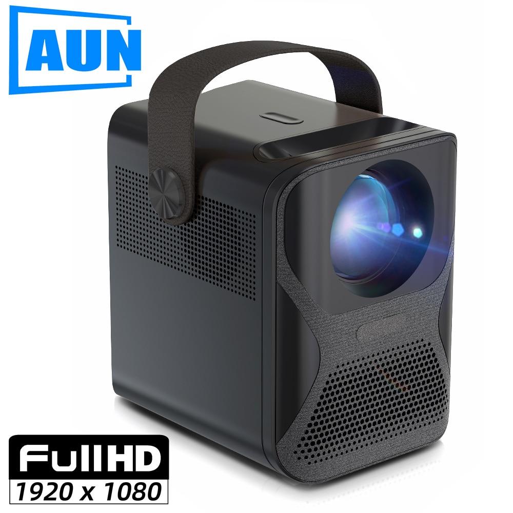 AUN-جهاز عرض صغير عالي الدقة ET30 ، 1920 × 1080 بكسل ، Android ، WIFI ، LED ، للسينما المنزلية ، هاتف ، جهاز عرض فيديو 4k ، 7800 مللي أمبير